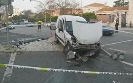 Acidente no centro de Lisboa faz dois feridos