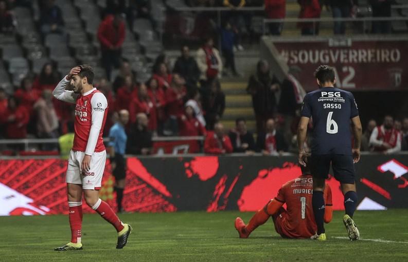 Pensar na Taça deu em derrota para o Sp. Braga