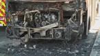 Autocarro incendeia-se nas Amoreiras em Lisboa