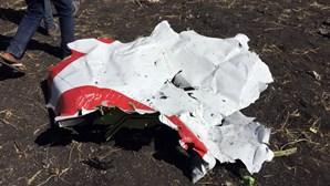 Reveladas primeiras imagens dos destroços do avião que caiu na Etiópia
