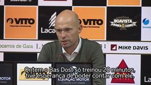 Keizer admite que Bas Dost faz falta à equipa do Sporting
