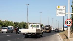 Segunda Circular, em Lisboa, com trânsito cortado nos próximos dois fins de semana