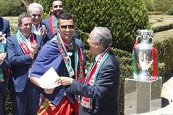 Condecoração dos jogadores da seleção nacional após o Euro 2016