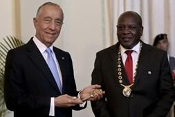 Marcelo Rebelo de Sousa durante a visita de estado a Moçambique