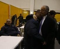 Marcelo Rebelo de Sousa visita centro de acolhimento aos sem-abrigo, no Pavilhão  Casal Vistoso