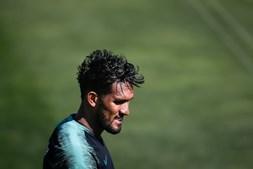 Dyego Sousa no treino da Seleção Nacional