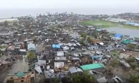 Destroços em Moçambique
