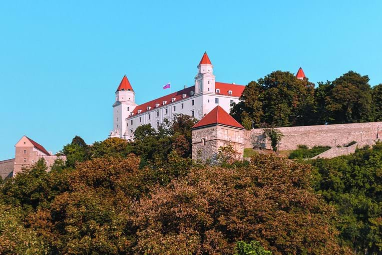 O Castelo de Bratislava proporciona uma vista deslumbrante