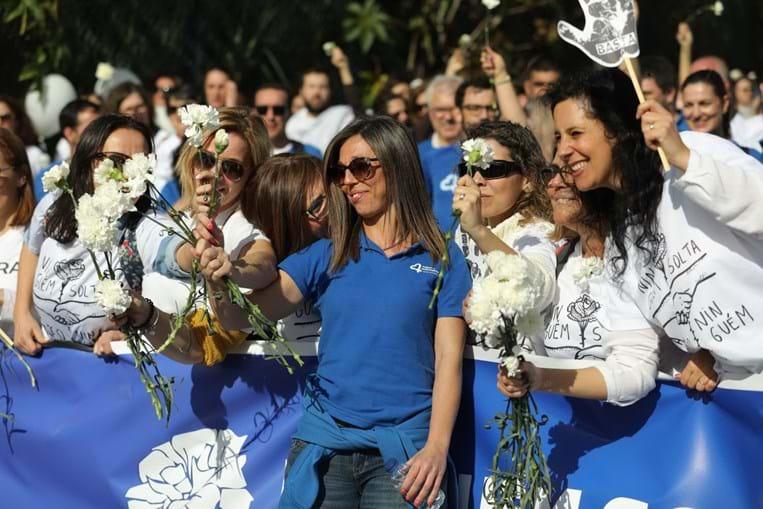 Enfermeiros fazem marcha de protesto em Lisboa