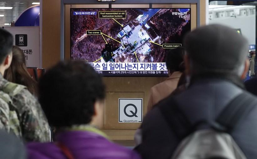 Televisões da Coreia do Sul alertam para possível novo lançamento de mísseis na Coreia do Norte