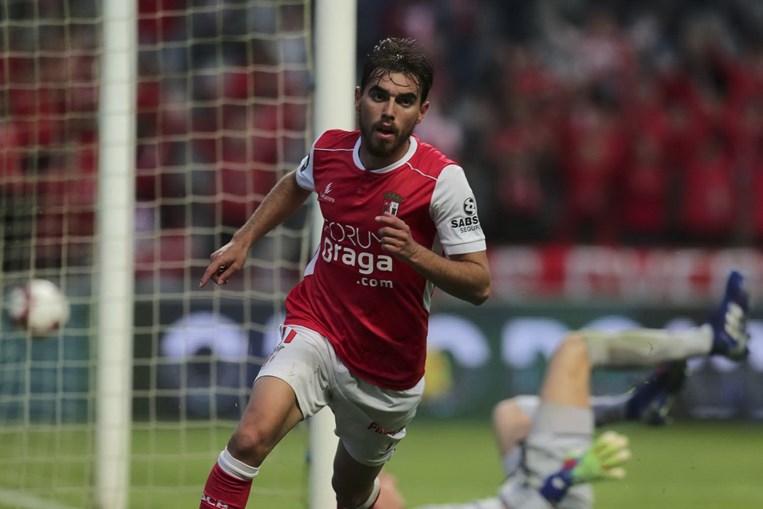 Ricardo Horta celebra golo do Sp. Braga ao Guimarães