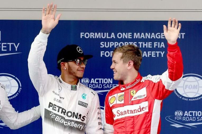 Lewis Hamilton e Sebastian Vettel disptuam título na Fórmula 1