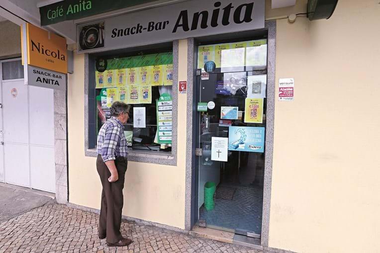 Café Anita foi atacado ao fecho do Euromilhões da sexta-feira de 8 de junho de 2018