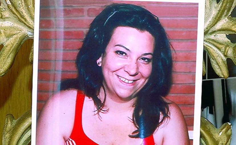 Rosa Grilo numa das fotos que tinha em casa