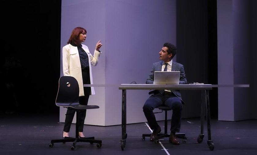 Maria João Abreu e João Tempera durante ensaio