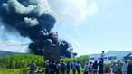 Empresa de estofos destruída por incêndio em Paredes