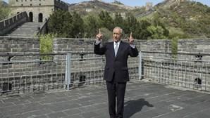Marcelo Rebelo de Sousa começa hoje visita oficial à China. As imagens do Presidente na Grande Muralha