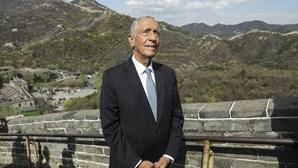 Marcelo sobe a Grande Muralha e afirma que só o povo pode empurrar o Governo