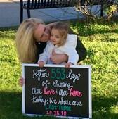 533 dias depois de conhecer Gisele, Liz tornou-se mãe da menina
