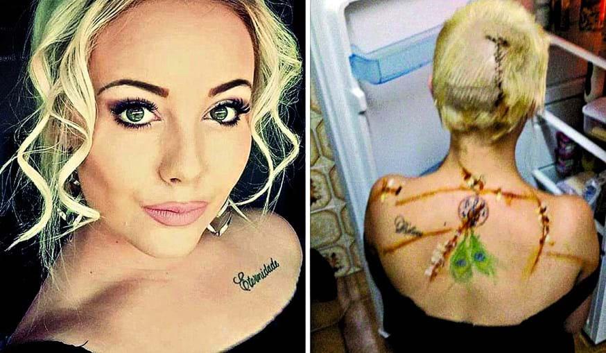 Leighane May Rumney tinha 18 anos quando foi atacada, esfaqueada e abandonada nua em Alcantarilha