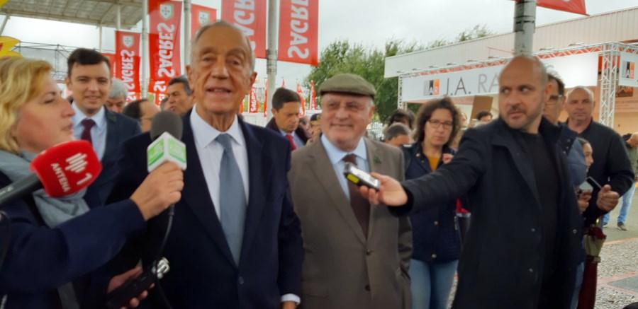 Marcelo Rebelo de Sousa marca presença na abertura da Ovibeja