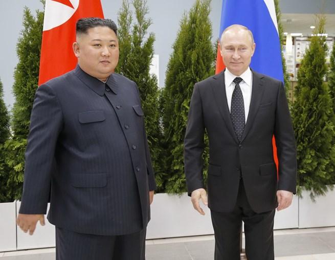 Kim Jong Un na Rússia com Putin