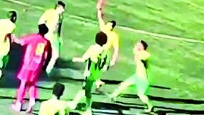 Futebolista preso por dar soco a árbitro na Amadora