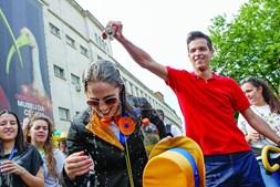 Banhos de cerveja já são tradicionais no cortejo de Coimbra