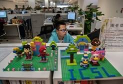 Trabalhador da Huawei no local de trabalho