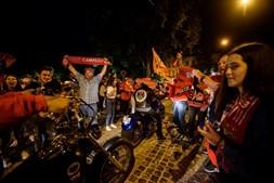Adeptos comemoram título benfiquista em Coimbra