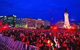 Benfica soma 37º título de campeão nacional. Marquês de Pombal com lotação esgotada