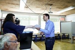 Pedro Marques votou em Alcochete