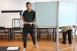André Silva votou em Lisboa