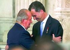Rei Juan Carlos e Felipe VI