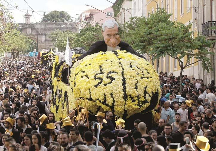 António Costa foi um dos alvos da sátira social e política dos estudantes de Coimbra