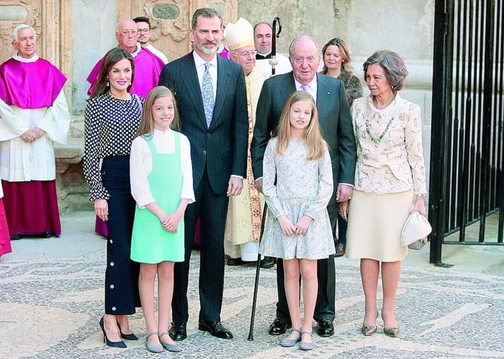 A família real espanhola num dos raros momentos de reunião