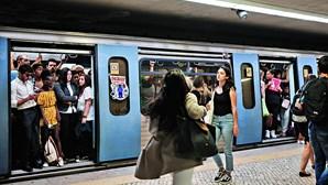Utentes do metro fazem oito reclamações por dia
