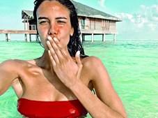 Isabela Valadero nas Maldivas