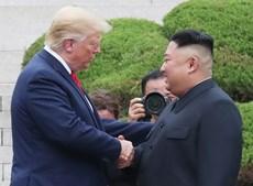 Trump com o o líder norte-coreano, Kim Jong-un