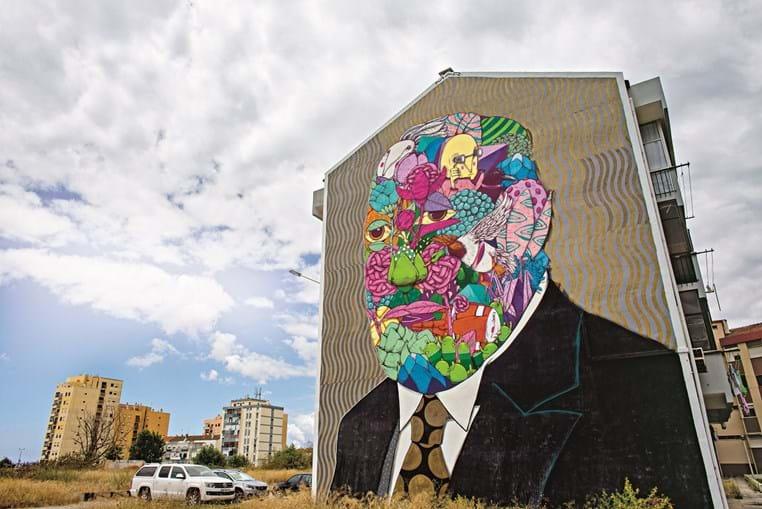 No Barreiro,  mural da autoria de Gonçalo Mar retrata Alfredo da Silva