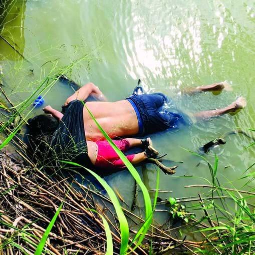 Alberto Ramírez e Valeria morreram afogados a tentar entrar nos EUA