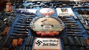 Míssil e arsenal de armas apreendido a simpatizantes neonazis em Itália
