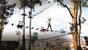 Parque de arborismo oferece várias atividades com Braga como pano de fundo