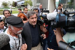 Bruno de Carvalho na chegada ao tribunal