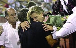 Ana Batista foi colhida e teve de ser transportada para o Hospital de Santarém