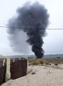 Incêndio no Parque de Campismo Piedense na Costa da Caparica
