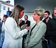 Ana Rita Cavaco com Marta Temido
