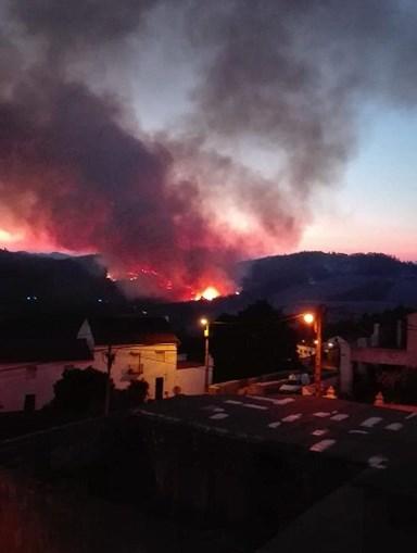 Incêndio na aldeia de Amêndoa, no concelho de Mação