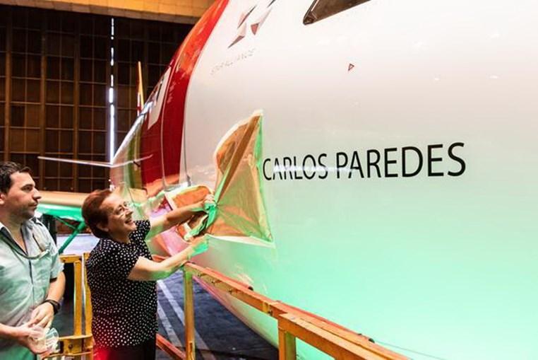 'Carlos Paredes' dá nome a avião da TAP