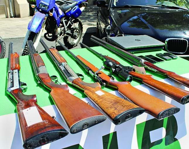 Armas que foram apreendidas